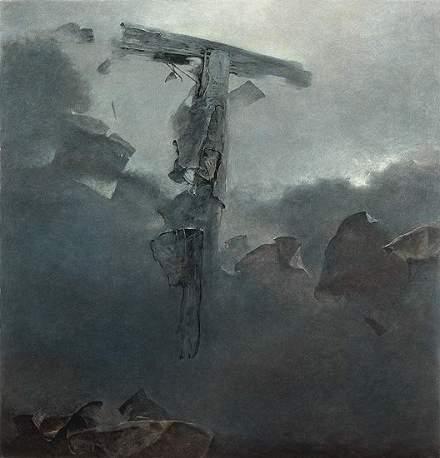 la croge nel cielo grigio Zdzisław+Beksiński, De oculta tecnologia poesia occulta